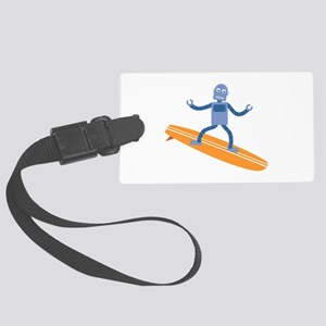 Surfing Robot Large Luggage Tag
