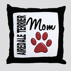 Airedale Terrier Mom 2 Throw Pillow