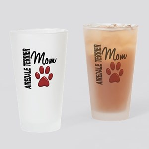 Airedale Terrier Mom 2 Drinking Glass