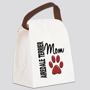 Airedale Terrier Mom 2 Canvas Lunch Bag