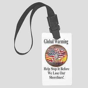 Global Waring Large Luggage Tag