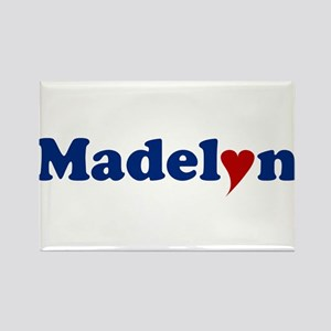 Madelyn with Heart Rectangle Magnet