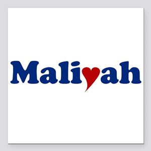 """Maliyah with Heart Square Car Magnet 3"""" x 3"""""""