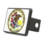 Seal of Illinois Rectangular Hitch Cover