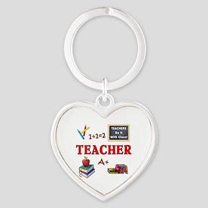 Teachers Do It With Class Heart Keychain