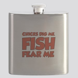 Chicks Dig Me Fish Fear Me Flask