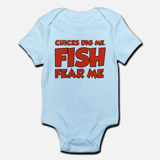 Chicks Dig Me Fish Fear Me Infant Bodysuit