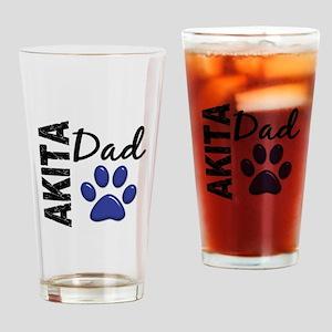 Akita Dad 2 Drinking Glass