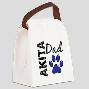 Akita Dad 2 Canvas Lunch Bag