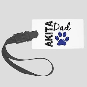 Akita Dad 2 Large Luggage Tag