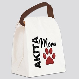Akita Mom 2 Canvas Lunch Bag
