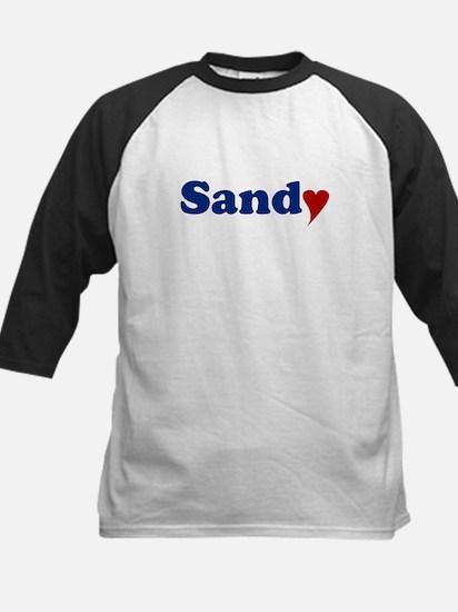 Sandy with Heart Kids Baseball Jersey