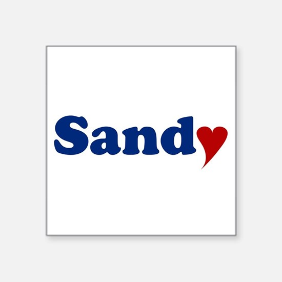 """Sandy with Heart Square Sticker 3"""" x 3"""""""