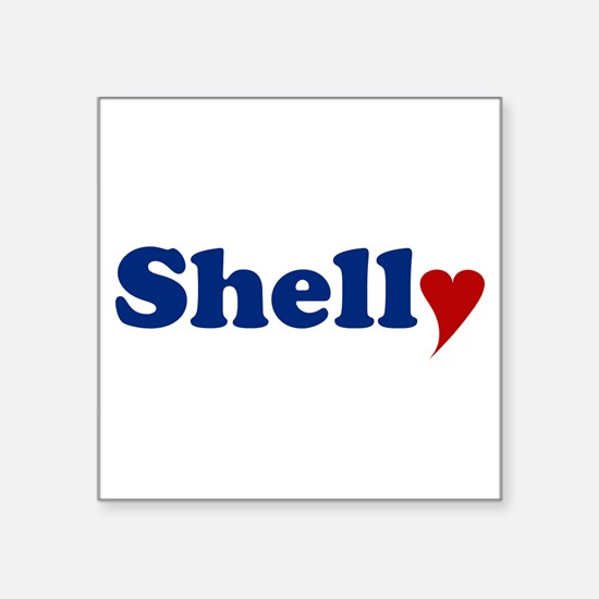 """Shelly with Heart Square Sticker 3"""" x 3"""""""