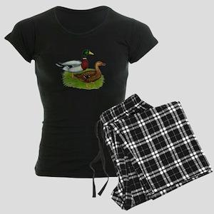 Mallard Ducks Women's Dark Pajamas