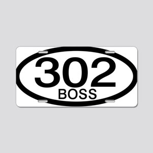 Boss 302 c.i.d. Aluminum License Plate