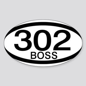 Boss 302 c.i.d. Sticker (Oval)