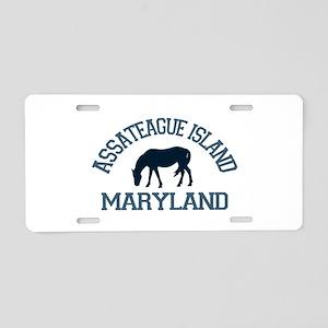Assateague Island MD - Ponies Design. Aluminum Lic