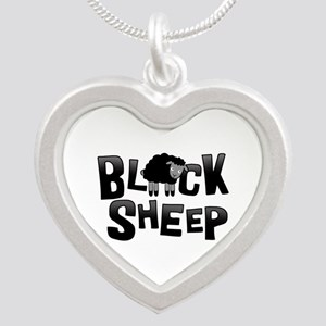 Black Sheep Dark Silver Heart Necklace