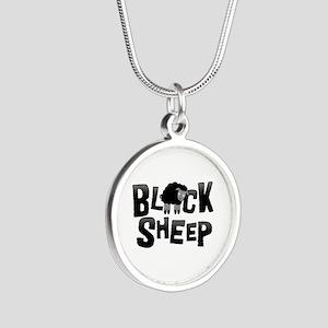 Black Sheep Dark Silver Round Necklace