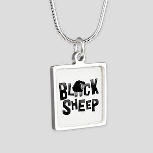 Black Sheep Dark Silver Square Necklace