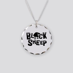 Black Sheep Dark Necklace Circle Charm
