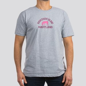 Assateague Island MD - Ponies Design. Men's Fitted
