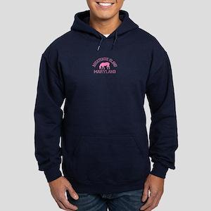 Assateague Island MD - Ponies Design. Hoodie (dark