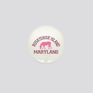 Assateague Island MD - Ponies Design. Mini Button