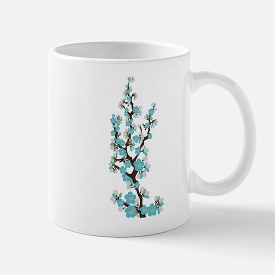 Cherry Blossoms Japanese Sakura (aqua) Mug