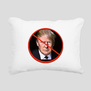 No to Trump Rectangular Canvas Pillow