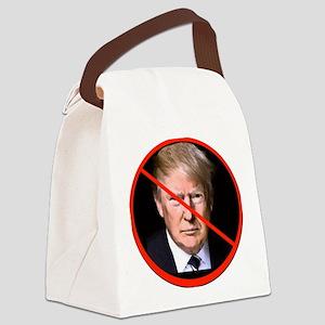 No to Trump Canvas Lunch Bag