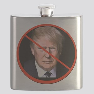 No to Trump Flask