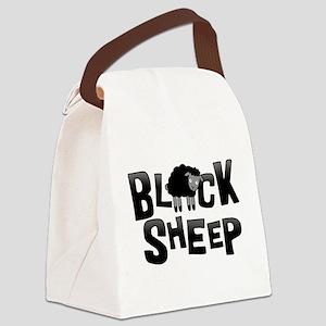 Black Sheep Dark Canvas Lunch Bag