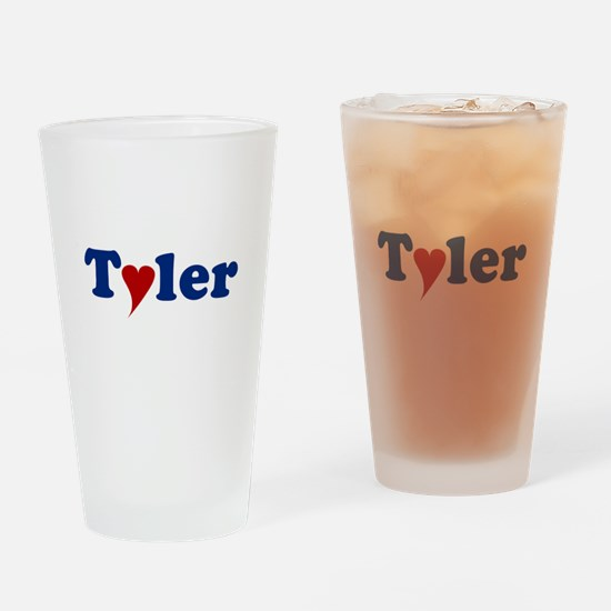 Tyler with Heart Drinking Glass