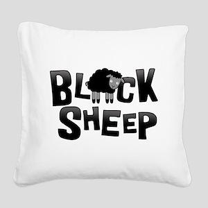 Black Sheep Dark Square Canvas Pillow
