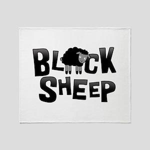 Black Sheep Dark Throw Blanket