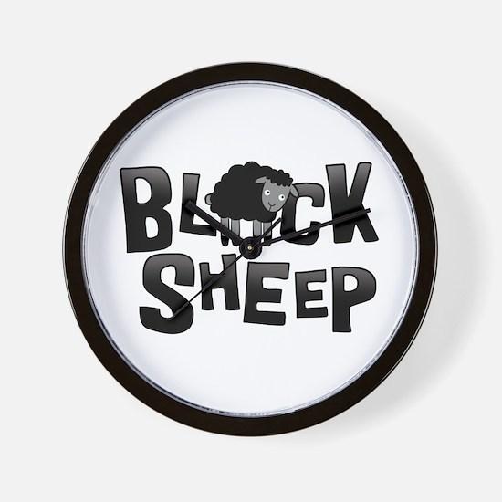 Black Sheep Dark Wall Clock