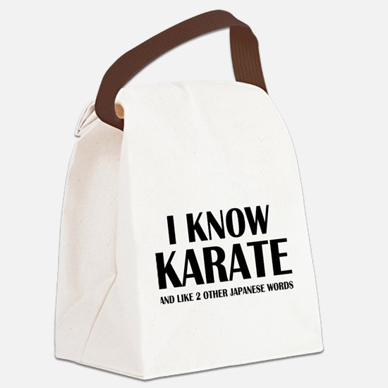 I Know Karate Canvas Lunch Bag