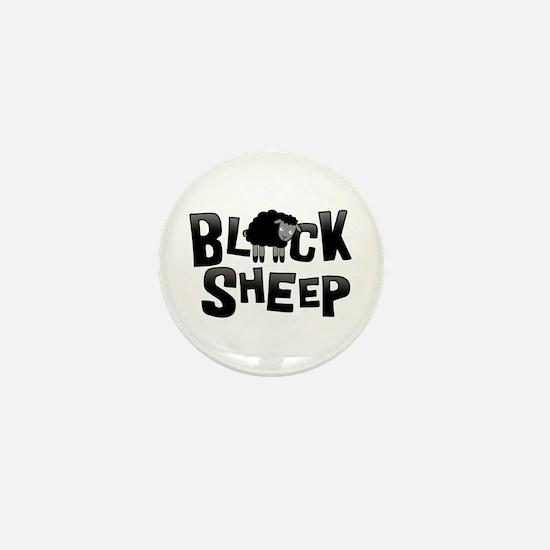 Black Sheep Dark Mini Button