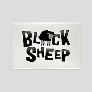 Black Sheep Dark Rectangle Magnet