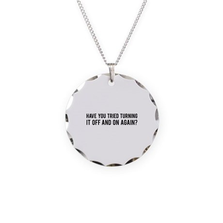 Off and On Necklace Circle Charm