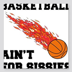 """FIN-basketball-sissies Square Car Magnet 3"""" x"""