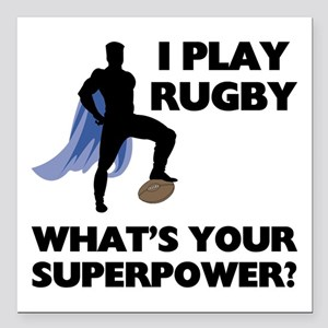 """FIN-rugby-superpower Square Car Magnet 3"""" x 3"""""""