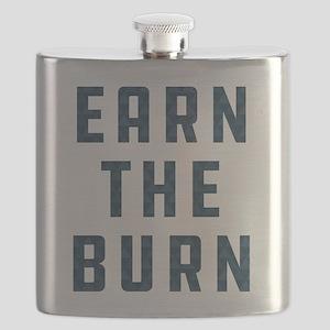 Earn The Burn Pattern Flask