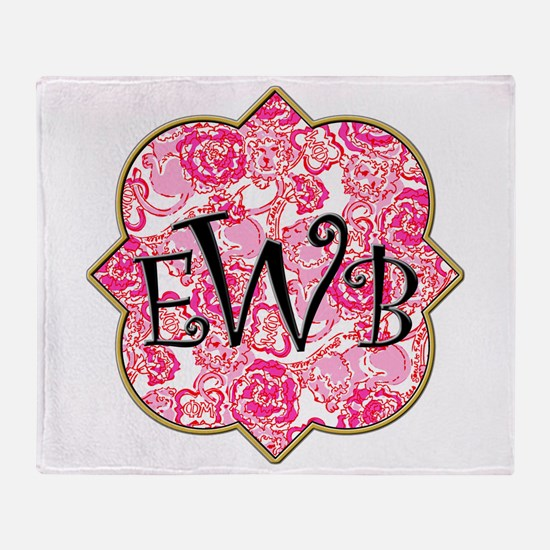 Phi Mu Throw Blanket