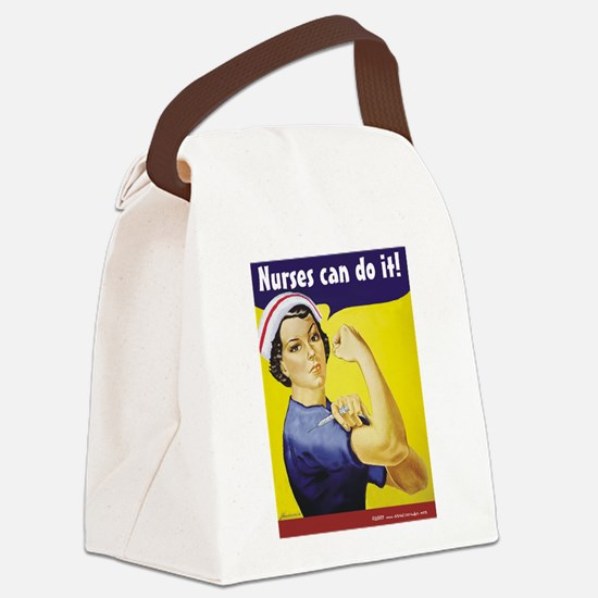 Nurses Can Do it! Canvas Lunch Bag