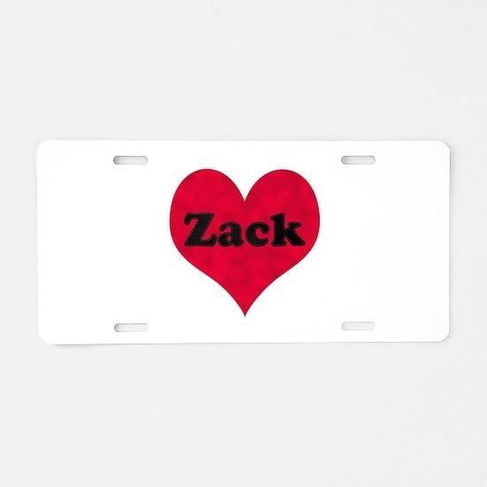 Zack Leather Heart Aluminum License Plate