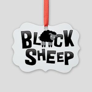 Black Sheep Dark Picture Ornament