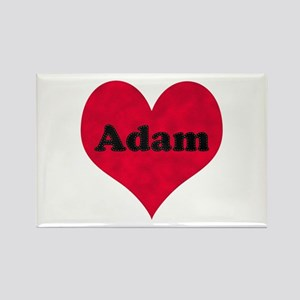 Adam Leather Heart Rectangle Magnet